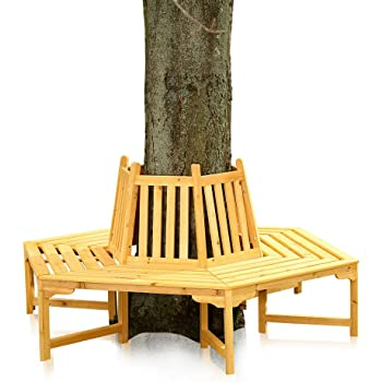 Amazon De Melko 360 Grad Baumbank Gartenbank Rundbank Aus Holz