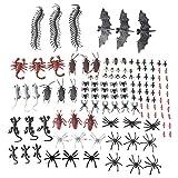 MLJ 150 stücke Halloween Kunststoff Gefälschte Insekten Dekoration, Schaben, Spinnen, Skorpione, Ameisen, Geckoes, Tausendfüßler