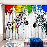 L22LW carta da parati Acquerello Zebra Semplice 3D Legno Plancia Sfondo Carta Da Parati Soggiorno Camera Da Letto Ristorante Personalizzato Senza Soluzione Di Continuità Mural-368Cm(H)* 254 Cm