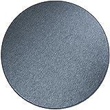 havatex Schlingen Teppich Torronto rund - schadstoffgeprüft und pflegeleicht | robust strapazierfähig | für Flur Wohnzimmer Schlafzimmer, Farbe:Anthrazit, Größe:300 cm rund