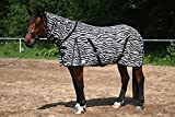 Fliegendecke Zebra Fliegenschutz Decke mit Hals Tysons 145 155 165