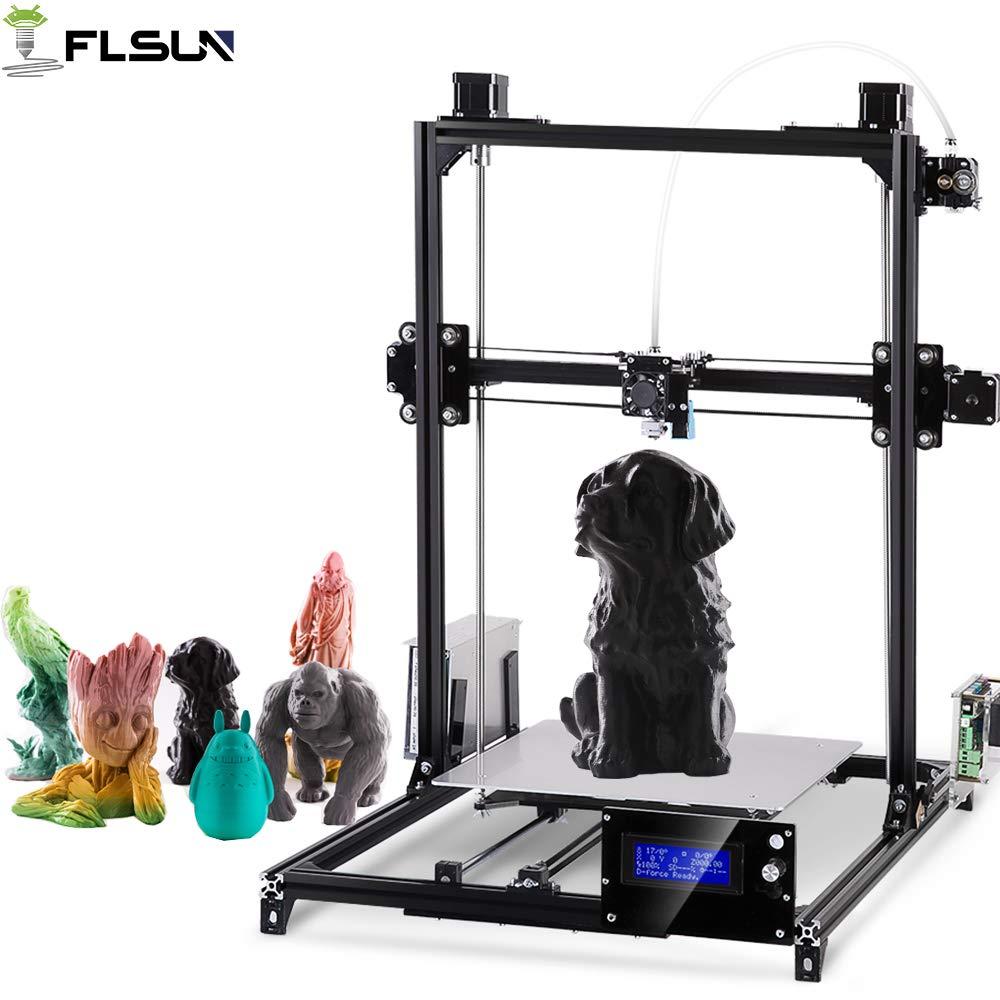 FLSUN 3D Imprimantes Plus Taille Prusa i3 DIY Kit 300x300x420mm Auto nivellement Grande Impression Taille Lit Chauffé Plein Cadeaux PLA, ABS Filament 1.75mm