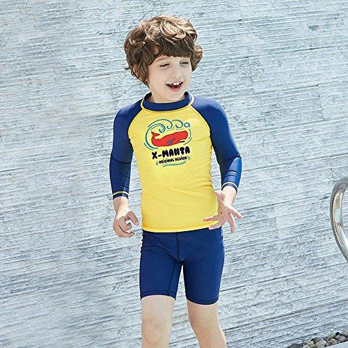 Axiba Kinder Badeanzug jungen Sonnenschutz Badeanzug jungen Kinder Kurzarm schnelles Trocknen Badeanzug (Korb Waten)