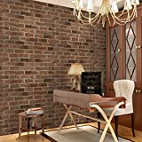 GFEI Moderno Estilo Chino Wallpaper/Papeles Decorativos/Gris Brick Wall Stickers,B