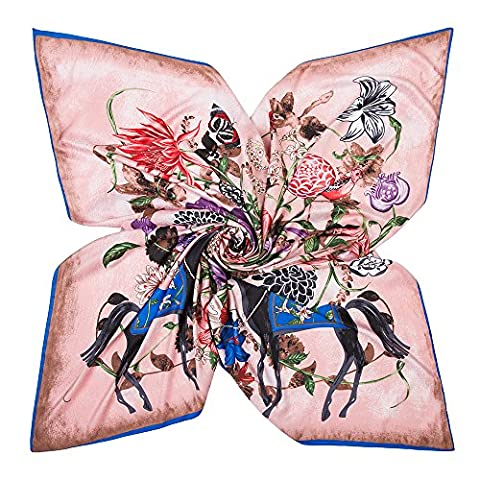 Fashion Attack Fashion Flowers Print Shawl Wrap Sheer Scarf Echarpe For Women 51 x 51 inches