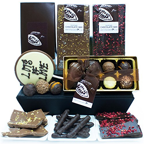 LOTS OF LOVE CHOCOLATE HAMPER - Exclusive Eden4chocolates Chocolate Hampers & Luxury Chocolates for Occasions & Celebrations Year Round - Perfect for Birthday Easter Christmas Mothers Day and Fathers Day