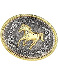 e4e168ecdc Fenteer Western Cowboy Rodeo Belt Buckles Horse Native American Indian  Fibbia Per Cintura Fit 3,