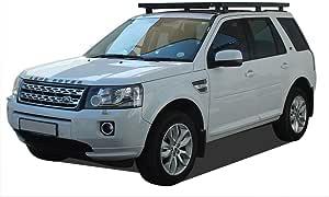 Nero 1 Pezzi Tetto ferroviario per Land Rover Freelander 2 LR2 2006-2016 Barriere da tetto con serratura bloccabile Bagagliere Portabagagli Barre trasversali Traverse Cross Bar