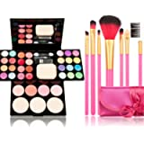 Makeup Brushes Cosmetic Palette Set TimeSong Professional Makeup Palette Kit (Include: Eyeshadow & Blusher & Face Powder…