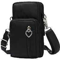 Schimer Hüfttasche Waist Bag Handytasche, Handy Umhängetasche Mädchen, Canvas Universal Handytasche zum Umhängen…
