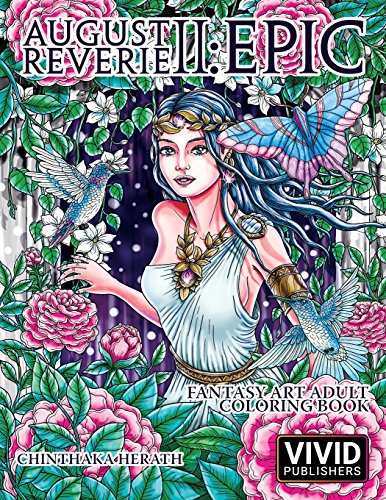 August Reverie 2: Epic - Fantasy Art Adult Coloring Book: Volume 2 por Vivid Publishers