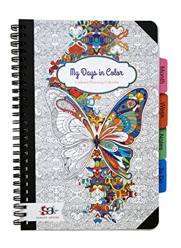 Mis días en color Calendario sin fecha a color ~ 15 x...