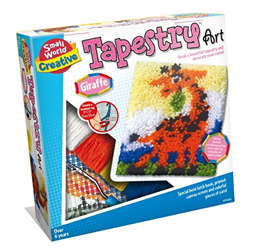 Small World Toys Giraffe Tapisserie Art-Set, Mehrfarbig, 26.41 X 26.41 X 7.11 cm
