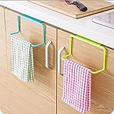 bonytain 1über Tür Schrank Handtuch Rag Rack Regal zum Aufhängen Halterung Schiene für Badezimmer Küche Kleiderbügel blau