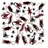 156 Stücke Plastik Realistische Wanzen, gefälschte Kakerlaken, Spinnen, Würmer und Fliegen für Halloween Party und Dekoration