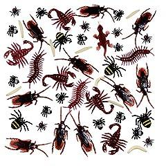Idea Regalo - 156 Pezzi Realistici di Plastica Bug, Falsi Scarafaggi, Ragni, Worm e Mosche per Halloween Festa e Decorazione