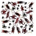 BBTO 156 Stücke Plastik Realistische Wanzen, gefälschte Kakerlaken, Spinnen, Würmer und Fliegen für Halloween Party und…