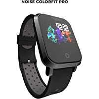 Noise ColorFit Pro Fitness Watch/Smart Watch/Activity Tracker/Fitness Band with Colored Display Waterproof,Heart Rate Sensor, Call & Notification Alert with Music Control Features (Sport Grey Black)