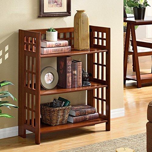 GRY American Style Regal Wohnzimmer Bücherregal Einfache Landung Lagerregal Zeigen,Holz American Bücherregal