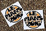 LE MANS 24 STUNDEN 2016 GUMBALL OPTIK WINDSCHUTZSCHEIBE sticker x2 für INNENGLAS