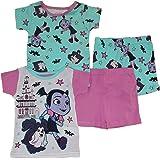 Disney Conjunto de pijama de algodón de 4 piezas para niña