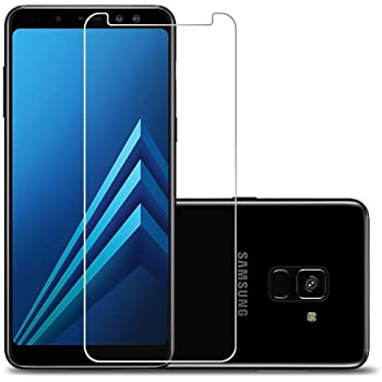 SHOPKART Edge-To-Edge Tempered Glass Screen Protector for Samsung Galaxy A8 Plus (Transparent)