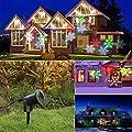 BEECOCO Wasserdicht LED Schneeflocke Projektor Weihnachtsbeleuchtung Gartenleuchte Outdoor Gartenstrahler Outdoor Weihnachten Landschaftslampe Spotlicht
