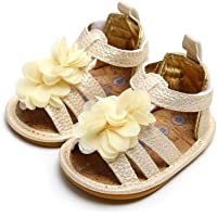 Infant Baby Girls Sandals Rubber Sole Non-Slip Summer Flower Princess Shoes