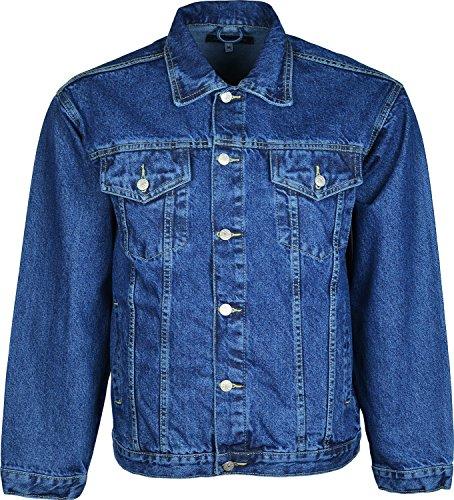 Azteck Jeans-Jacke für Herren mit Knopfleiste vorn Blau - Blau
