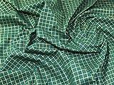 Weihnachten Mesh-Gitter Print 100% Baumwolle Stoff gold auf grün–Meterware