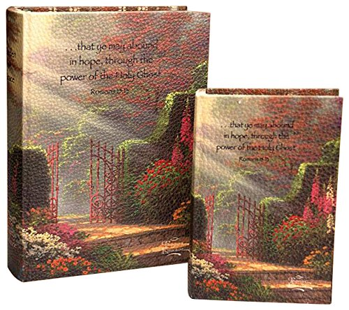 Manual Woodworker Thomas Kinkade Erinnerungsboxen, Design Garden of Grace, Handarbeit, 2 Stück