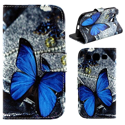 HUANGTAOLI Custodia in Pelle Portafoglio Flip Case Cover per Samsung Galaxy S3 GT-i9300/S3 Neo i9301