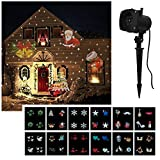 Mabor Landscape Projector Lamp, 12 Replaceable Slides with Colorful Festival Theme Patterns Fairy Light for Christmas Halloween Birthday Wedding Party Decoration