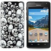 gada - Huawei Ascend Y530 -TPU funda de protección en un diseño elegante - Cráneo calavera Skulls