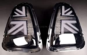 Mini Pre Lci Schwarz Union Jack Heck Lichter R56 R57 R58 R59 Auto