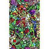 d-c-fix 200-5598 - Lámina adhesiva para ventana (vinilo, 90 cm x 1 m), efecto vidriera de jardín