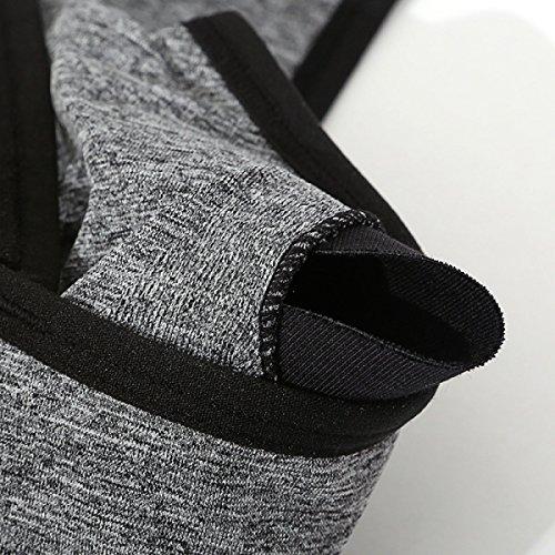 WKAIJCC Femme Sous-vêtements Sport Gilet Soutien-gorge Double épaule Beauté Arrière Dentelle Fitness Sans Anneau En Acier A