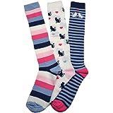 3 Pairs of Cats designs Ladies socks - Knee High Boot socks