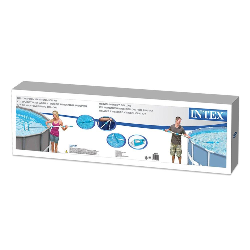 Intex 58959 - Accessoires Piscines - Kit D'Entretien Vac + - Kit Complet Pour Nettoyer Les Piscines Équipées D'Une Filtration De 3M3/H Minimum - Bleu