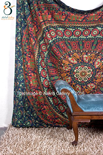 Tapestry Queen Flower Hippie tapestries Mandala Bohemian Psychedelic Intricate Indian Bedspread 92x82 Inches Aakriti Gallery Brand Name: Aakriti Gallery 3