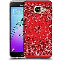 Head Case Designs Classique Rouge Bandana Cachemire Classique Étui Coque en Gel molle pour Samsung Galaxy A3 (2016)