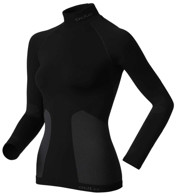 Odlo, Maglietta a manica lunga Donna Turtle Neck Evolution Warm, Nero (black), XL