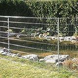 bellissa Teichschutz-Zaun Set - 92883 - Funktionaler Zaun für Abgrenzungen im Garten oder als Kleintiergehege - Schutzzaun für Teiche und Tiere - 710 x 80 cm