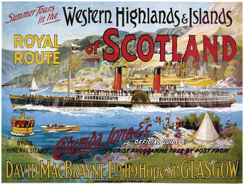 western-highlands-islands-of-scotland-royal-route-raddampfer-boot-loch-old-retro-vintage-urlaub-werb