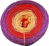 Häkel- & Strickstube Farbverlaufsgarn - Bobbel Phönix Orange-Rot-Dunkelrot 3 Farben 4 Fäden Lauflänge ca.1050m 50% Baumwolle - 50% Polyacryl Nadelstärke 3-4