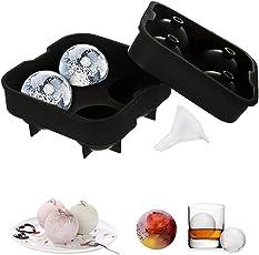 Sycle circle 3D Eiswürfelform + Trichter, Eiswürfelbehälter Würfel Eiswürfel Form Silikon, Ohne BPA, Eiswürfelbereiter für Kinder Pudding Milch Saft Erwachsene Bier Cocktails Whisky