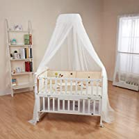 Baby Cot Canopy Baby Bed Mosquito Net Hanging Dome Curtain Netting See Through Mesh Bed Cover Net with Adjustable Holder…