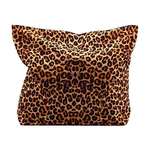 ZXXFR Leopard Print Damen Frauen Shopping Bag Soft Klappbar Zip Schulter Shopping Tote Schule Tasche Handtasche Strandtasche