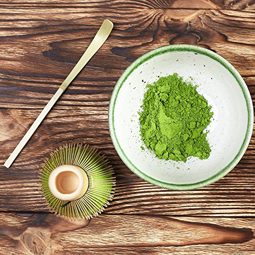 Tealyra - Matcha - Connoisseur Ceremony Start Up Kit - Complete Matcha Green Tea Gift Set - Imperial Matcha Tea Powder - Japanese Made Green Bowl - Bamboo Whisk Scoop and Tray - Holder - Sifter