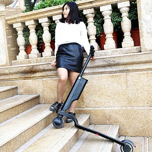 HHORD Scooter Elettrico, Scooter Elettrico Pieghevole per Doppio Sistema frenante per Adulti e Scooter per pendolari Intelligente Fino a 32 km
